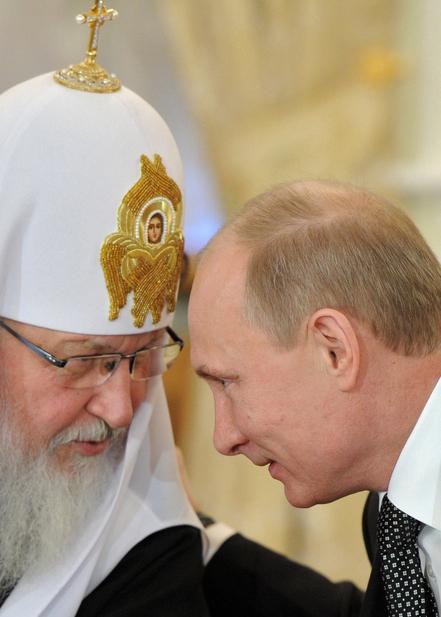 Vladimir Putin og patriark Kirill