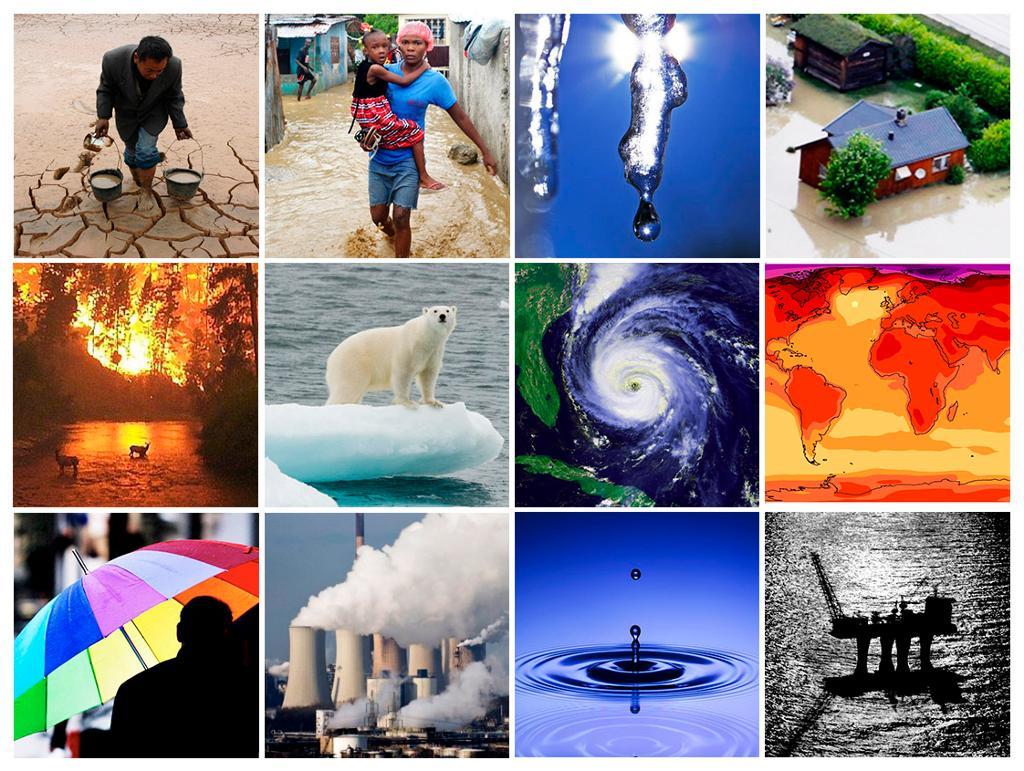 Kollasje: klimaendringer