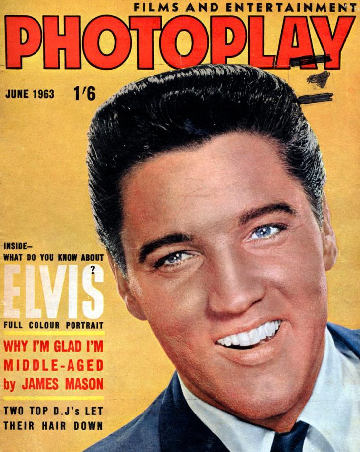 Elvis Presley på forsiden av bladet Photoplay. Foto.