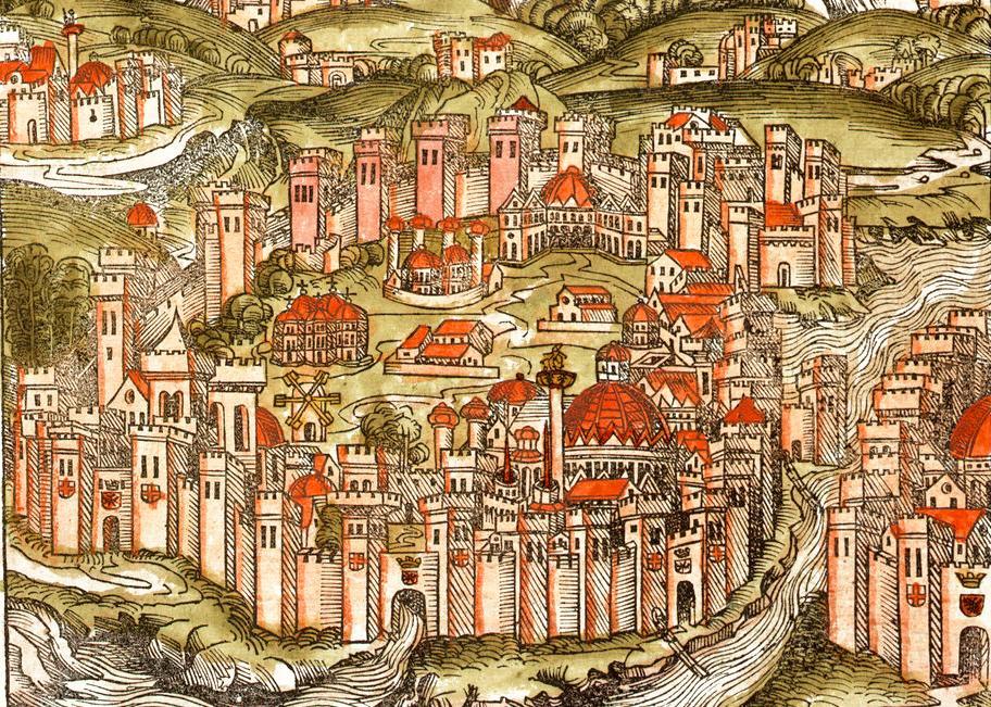Konstantinopel. Illustrasjon.