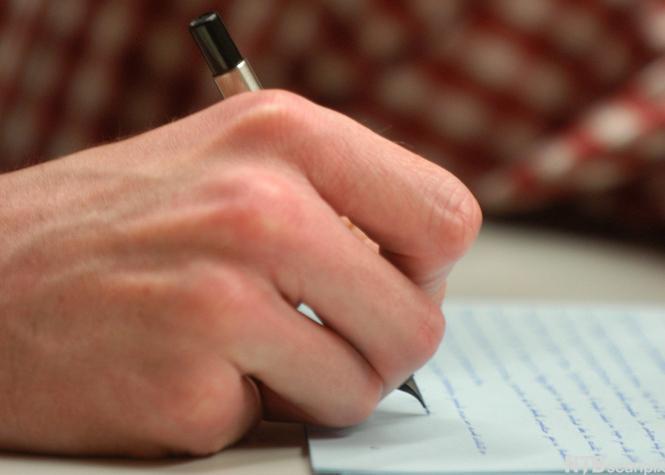 Gutt skriver brev