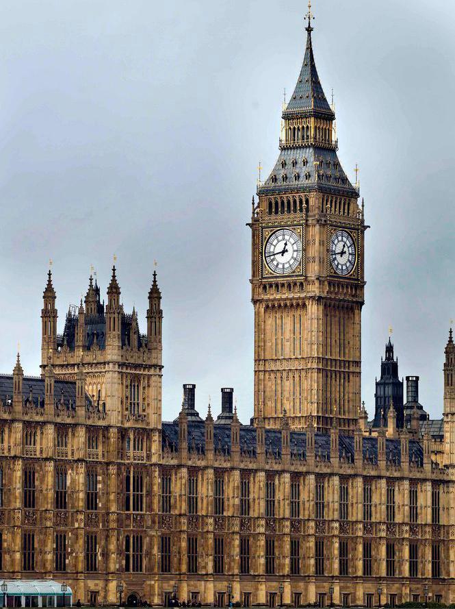 Det britiske parlamentet. Foto.