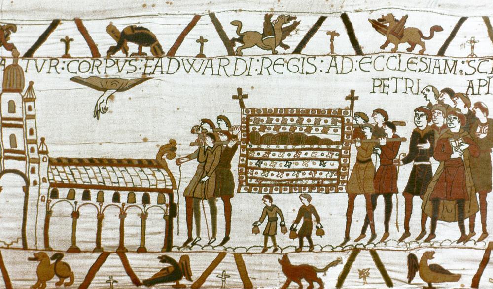 Begravelse prosesjon av kong Edward the Confessor i London 6. januar 1066.