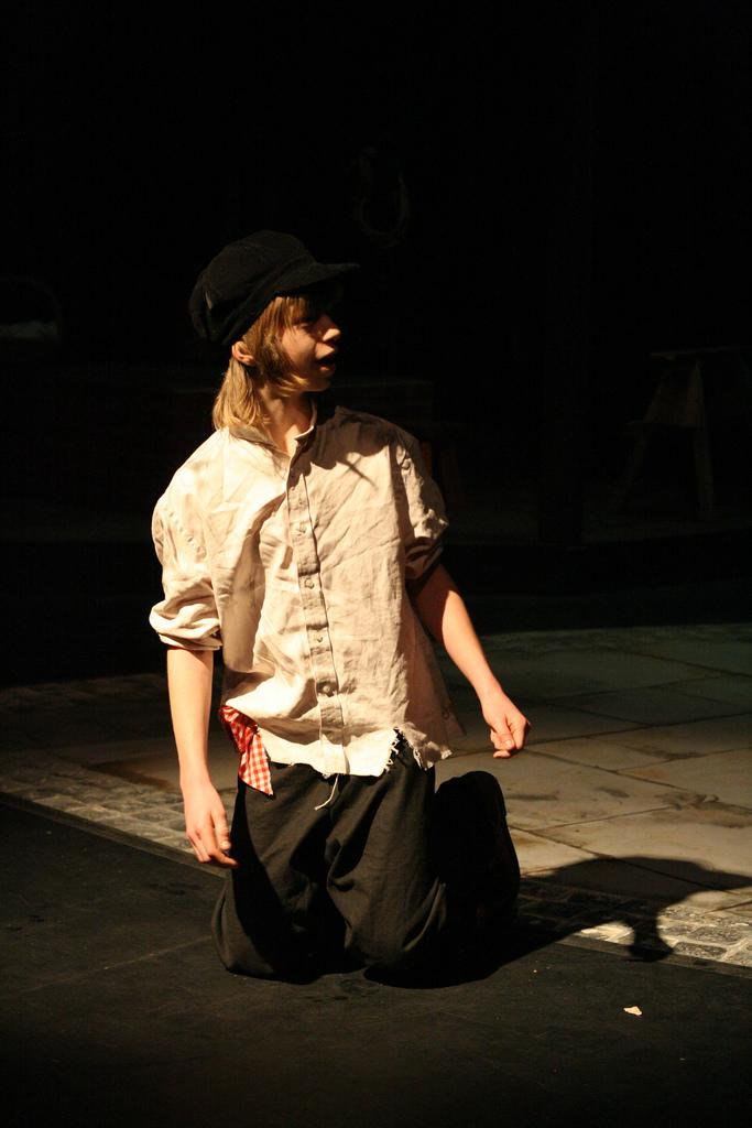 Boy Portraying Oliver Twist. Photo.