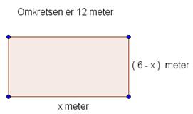 Omkrets av rektangel. llustrasjon.