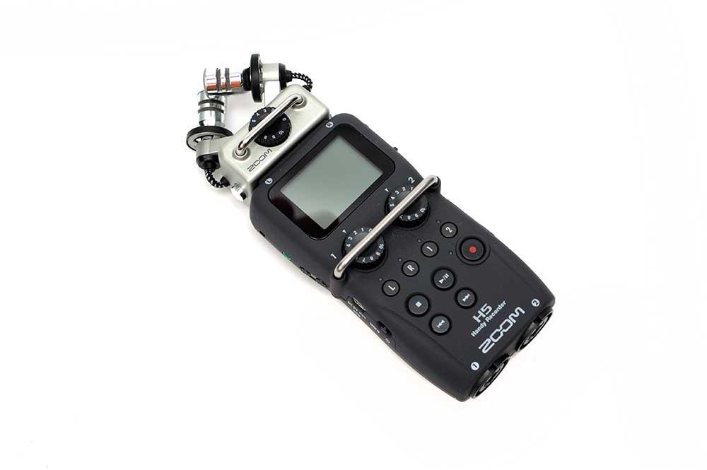 Lydopptaker med steriomikrofon. Foto.