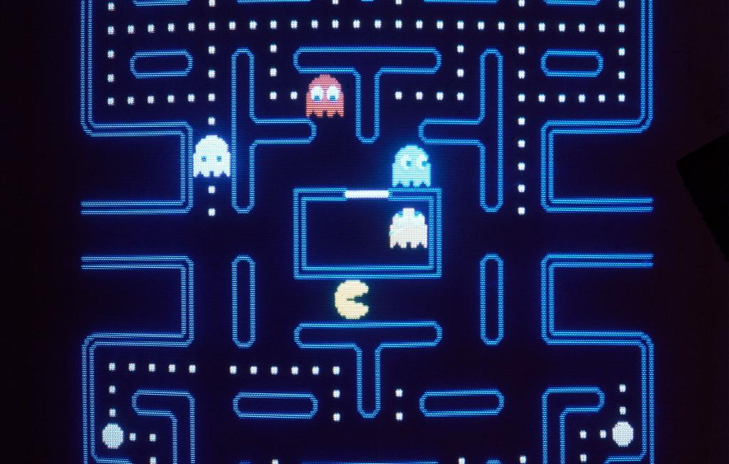Pac-Man-spillet. Bilde.