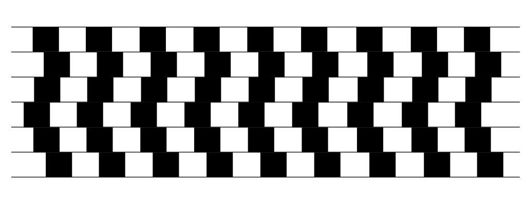 Persepsjon. Linjer og kvadrat i sorthvitt. Illustrasjon.