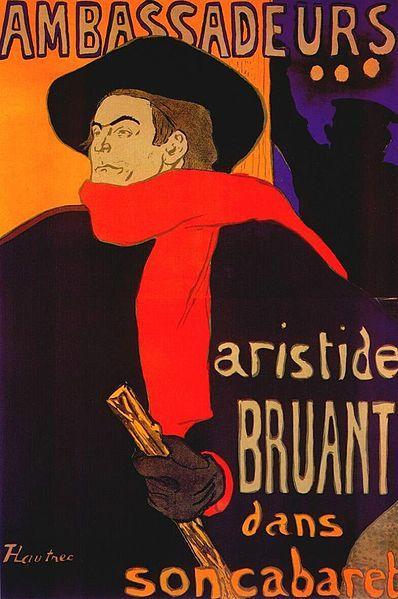 Lautrec ambassadeurs, aristide bruant (poster) 1892