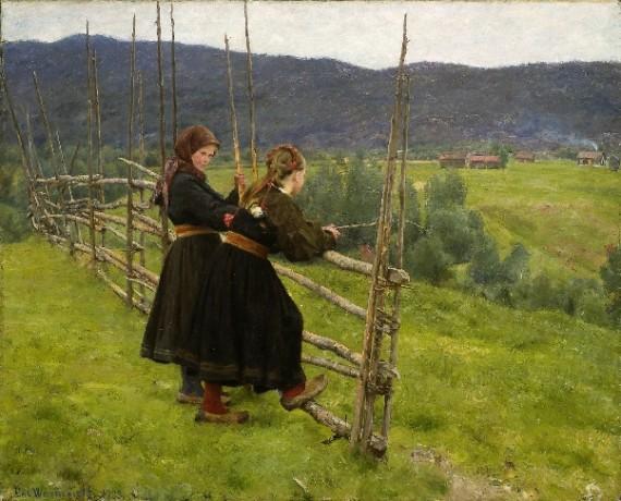 Fra Telemark malt av Erik Erenskiold 1883