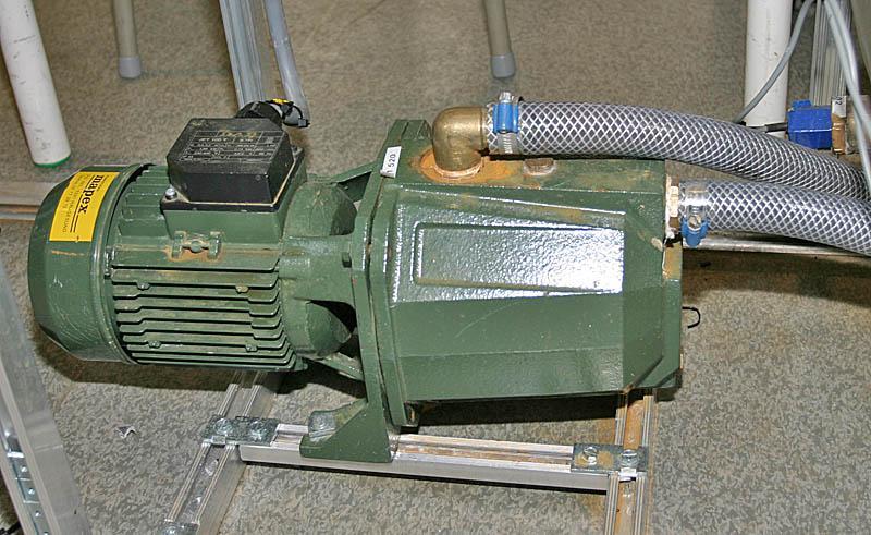 Pumpemotor. Foto.
