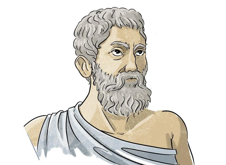 Illustrasjon av Pythagoras. Foto.