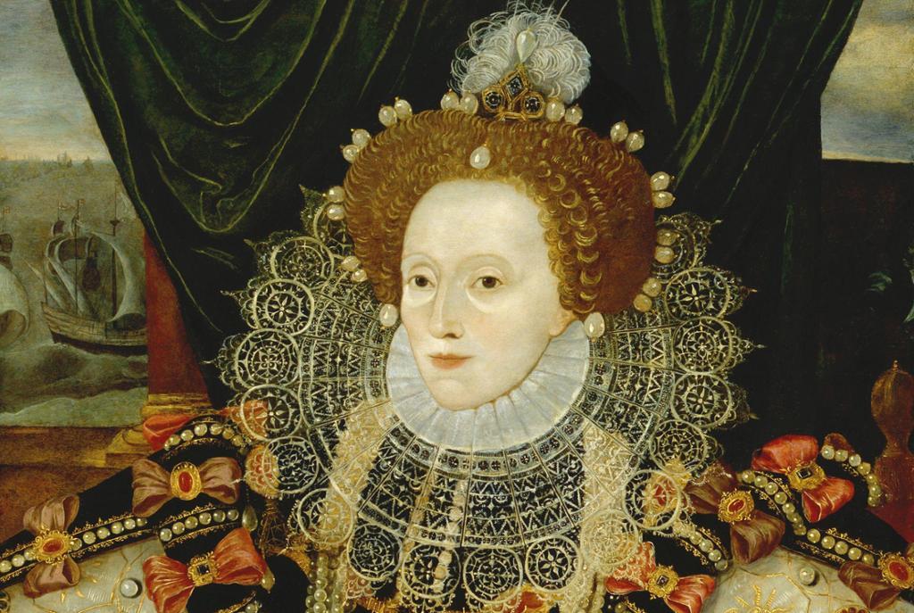 Dronning Elisabeth. Maleri