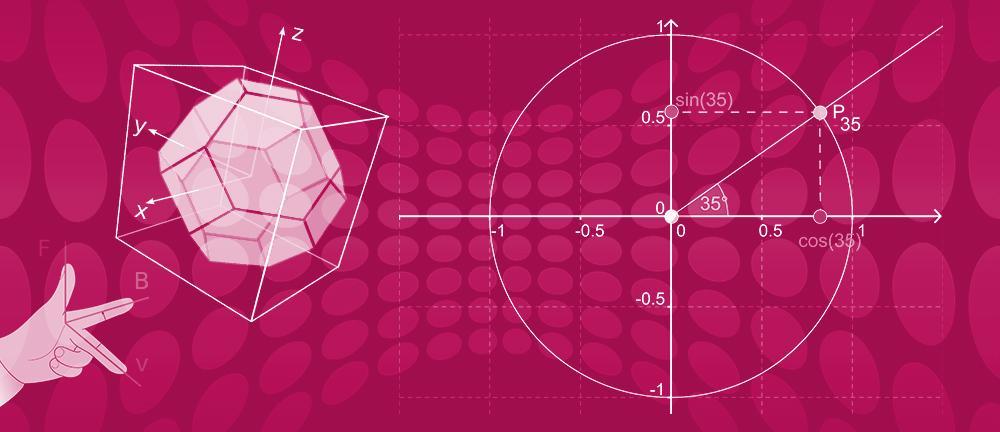 Bannerbilde for emnet geometri i faget R2. Foto.