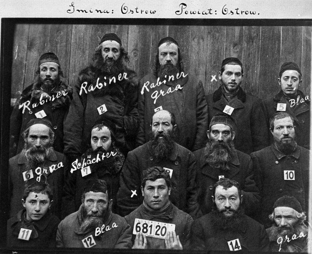Rabbinere med nummer på brystet. Foto.