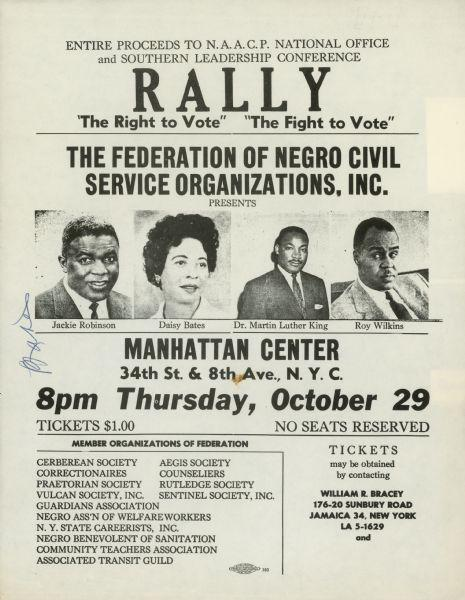 The Right to Vote Rally