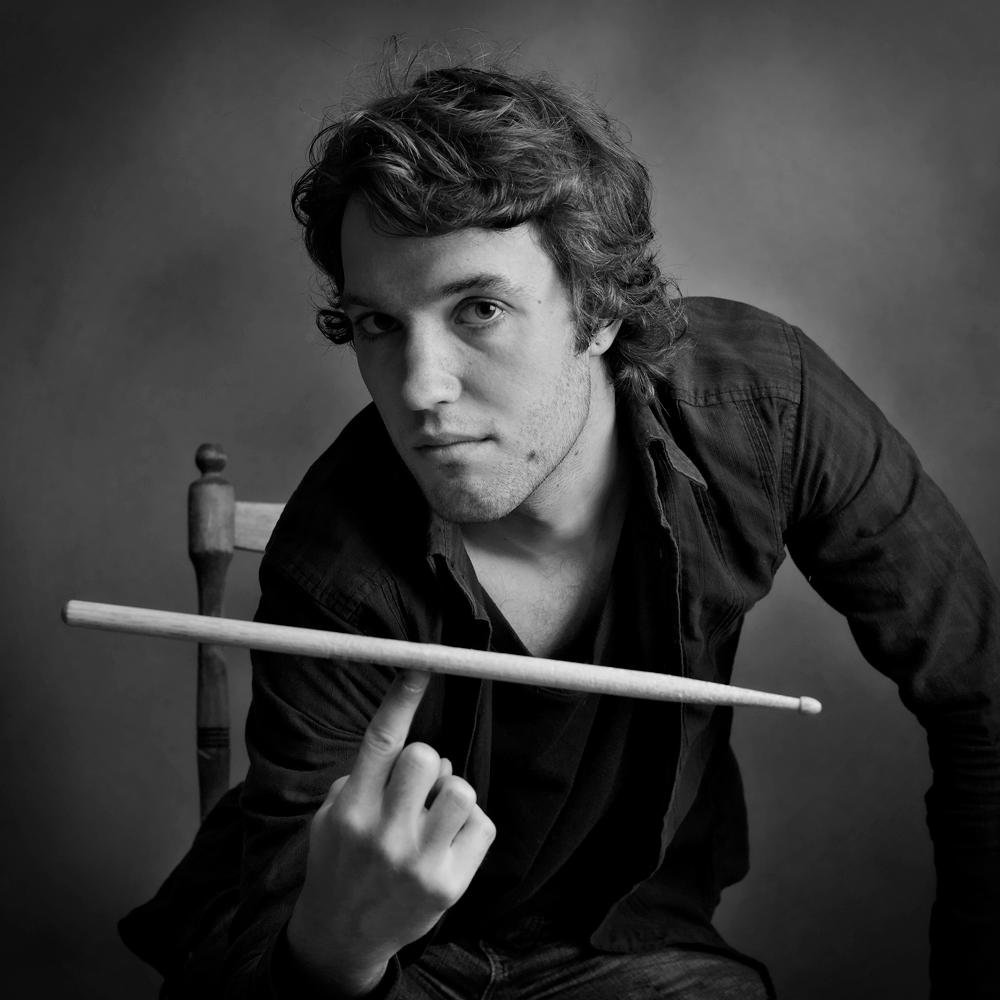 Reklameportrett musiker. Fotograf: Tom Knudsen