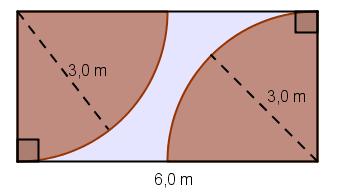 Areal av rektangel med sirkel