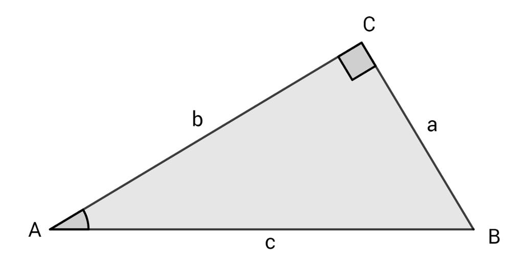 Rettvinkla trekant. Illustrasjon