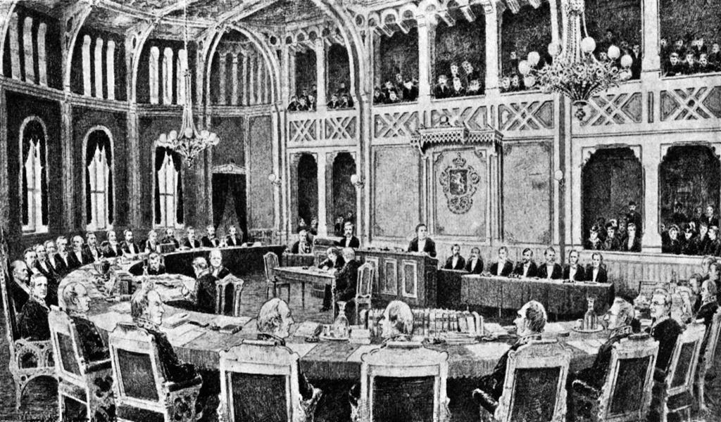 Riksretten 1884. Foto.