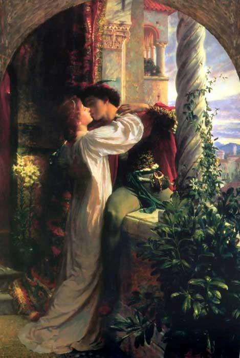 Romeo and Juliet. Illustration.