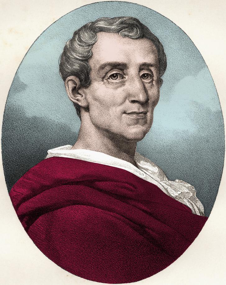 Montesquieu. Portrett.