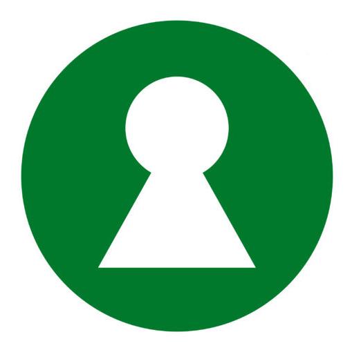 Logo til Nøkkelhullet. Illustrasjon.