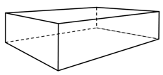 Bilde av en eske tegnet med topunktsperspektiv. Illustrasjon