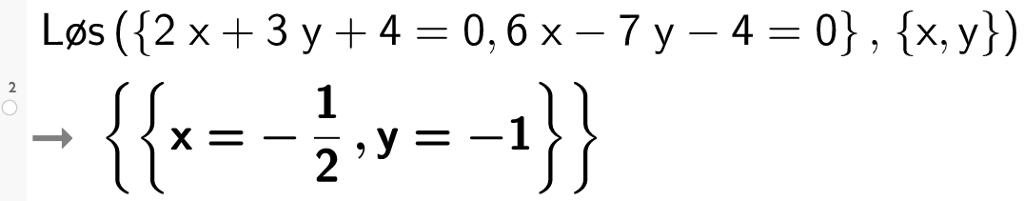 Likningsframstilling av linjer. Bilde.