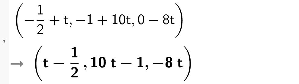 Parameterframstilling for linjer i CAS. Bilde.
