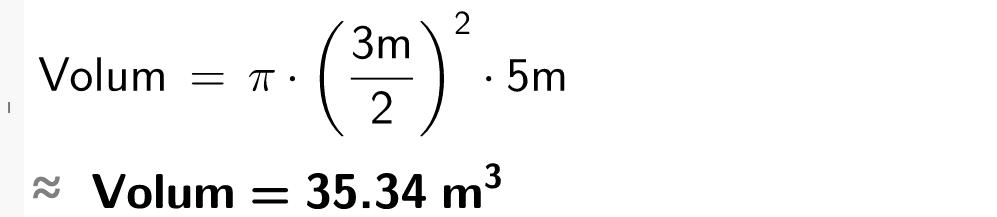 Pi multiplisert med parantes 3 dividert på 2 parantes slutt i andre multiplisert med 5.casutklipp.