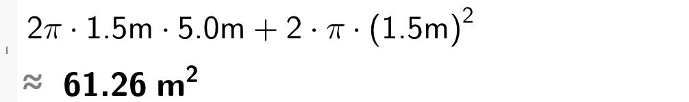 2 multiplisert med pi multiplisert med 1 komma 5 og 5 pluss 2 multiplisert med pi og 1 komma 5 i andre.casutklipp.