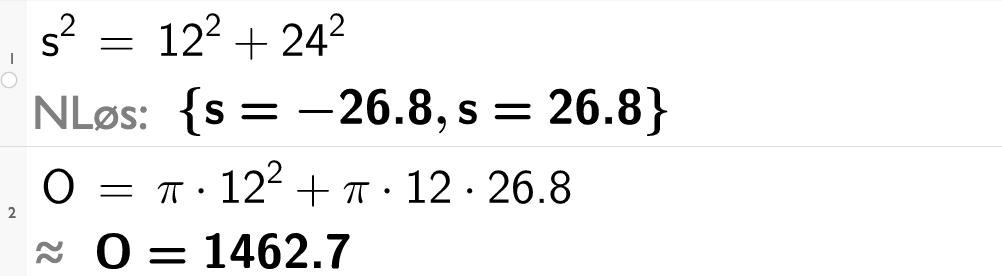 s i andre er lik 12 i andre pluss 24 i andre.casutklipp.
