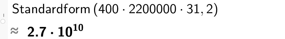 Standarform,tall, antall variabler. CASutklipp.