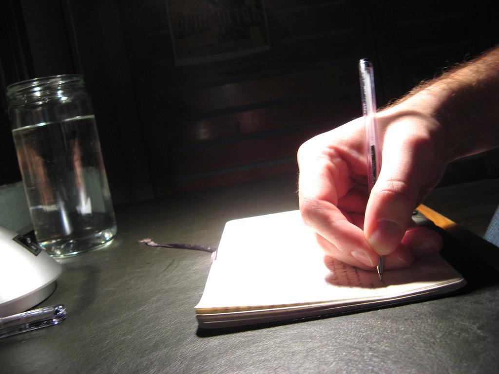 Skrive for hånd