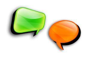 bildet viser to snakkebobler