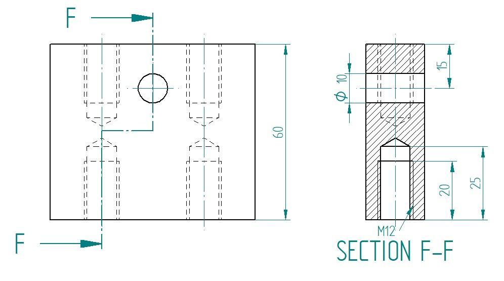 Bilde. Snitt vist i flere plan. Konstruktør sparer tid og plass.