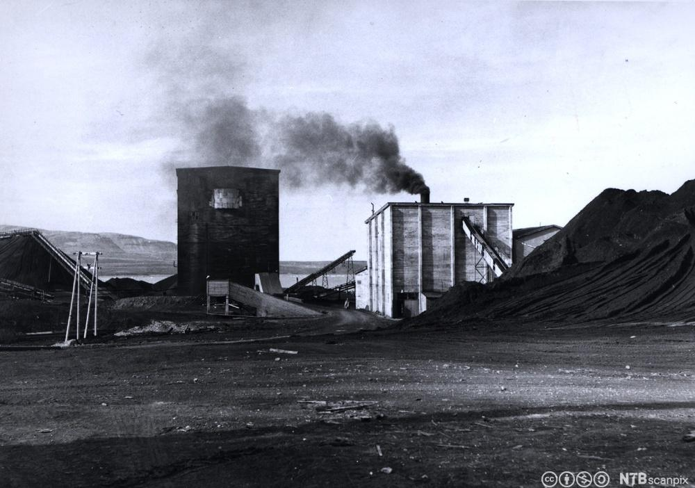 Fra gruvedrift i Kings Bay-anlegget i Ny Ålesund på Svalbard. Foto.