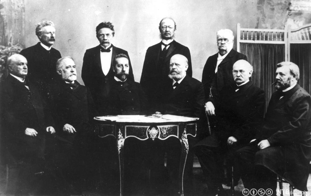 Regjeringen Michelsen 1905. Foto.