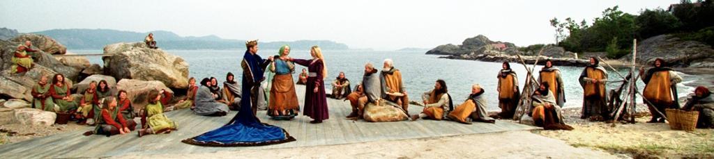 Scene fra spelet om kråka i Spangereid. Foto.