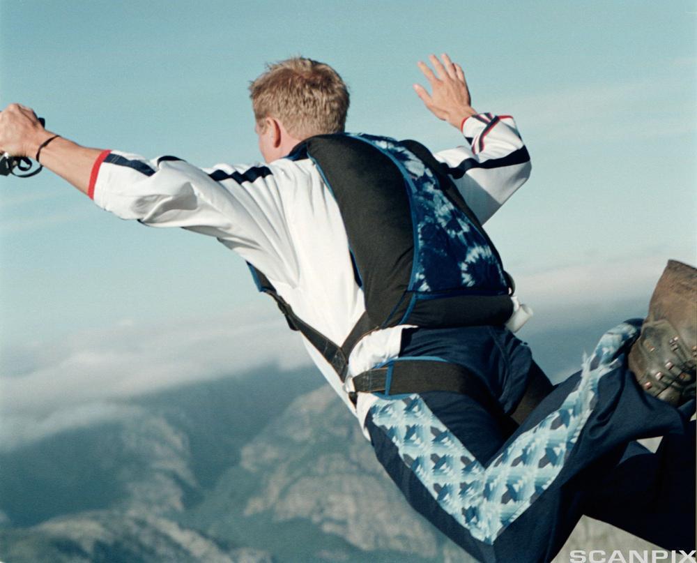 Fallskjermhopping. Foto.