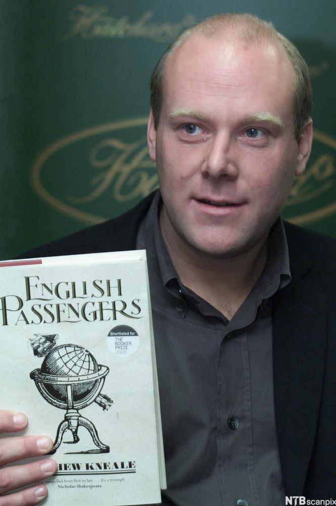 English Author Matthew Kneale with his Book English Passengers