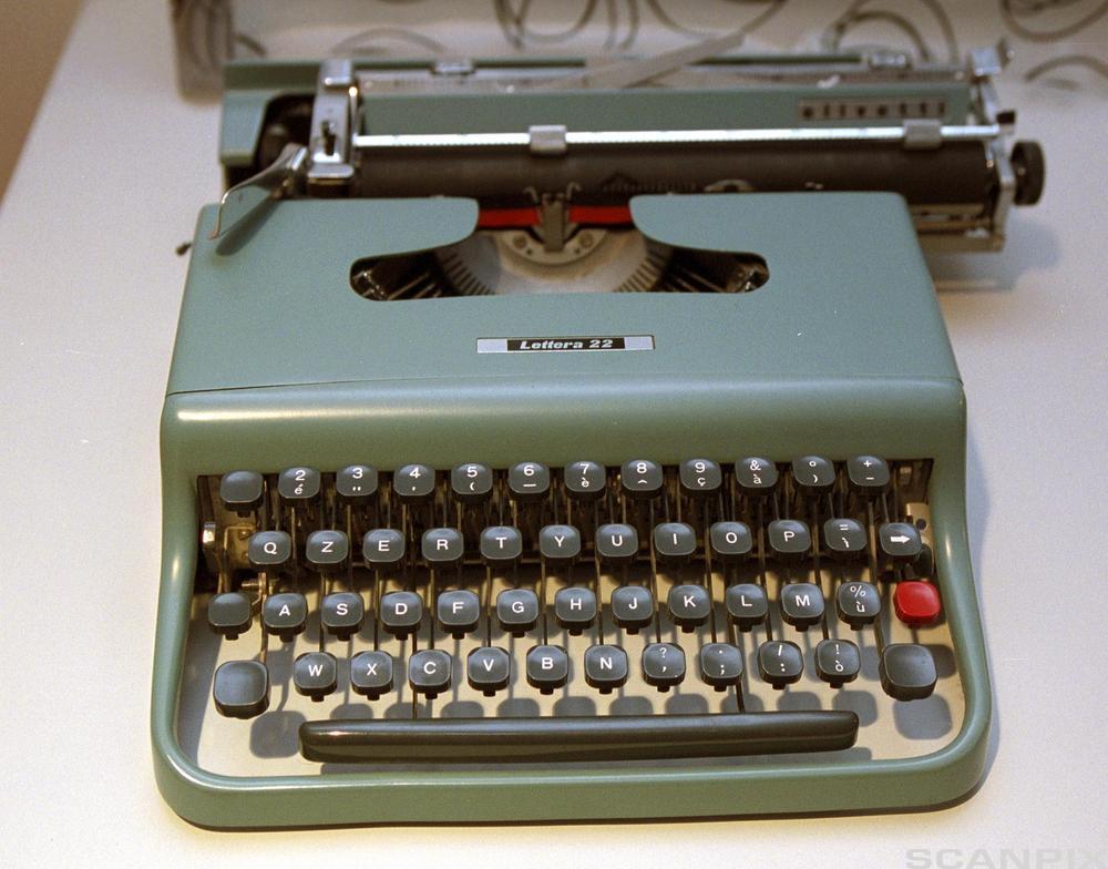 Skrivemaskin. Foto.