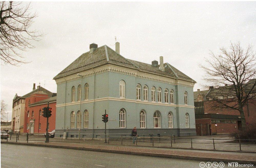Den jødiske synagogen (det blå huset) fortografert i 1997.