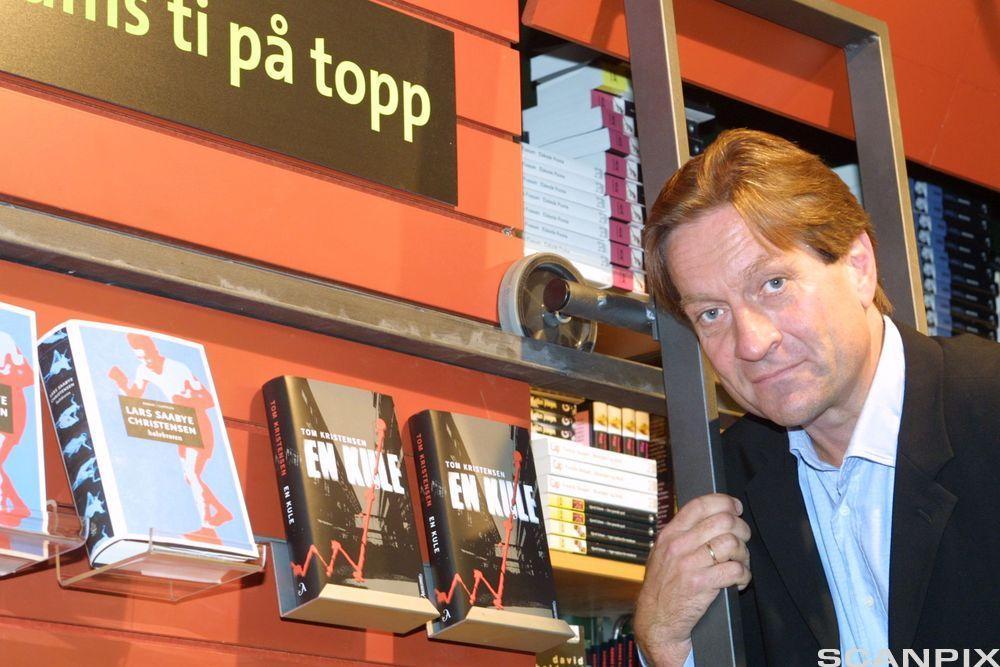 """Finansmann og forfatter Tom Kristensen gir ut boka """"En kule"""". Foto."""