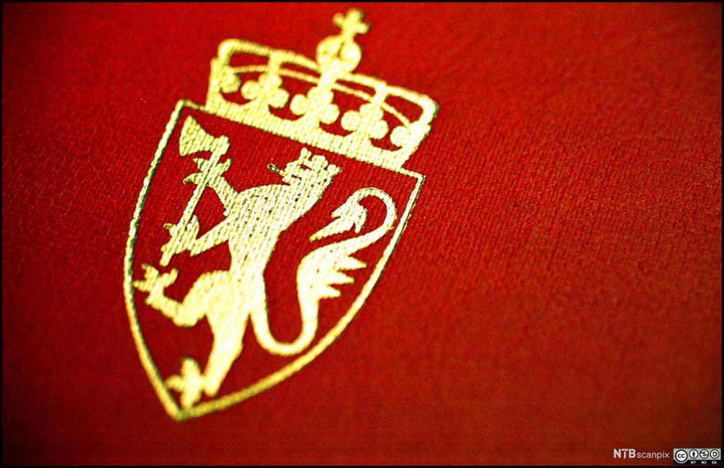Riksvåpenet. Foto.