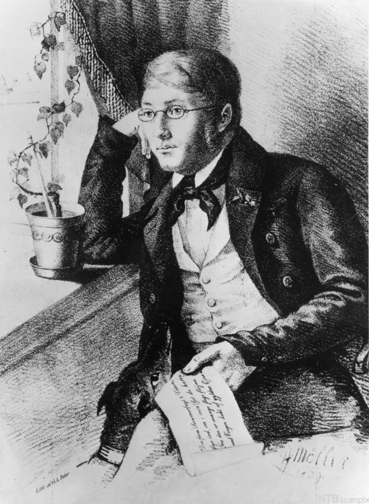 Henrik Wergeland. Maleri.