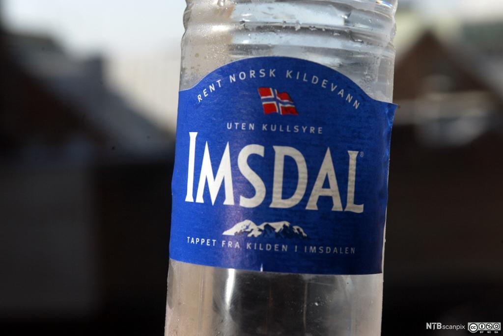 Flaskevann av Imsdal i nært utsnitt. Foto.