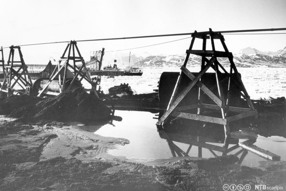 Kings Bay-gruvene på Svalbard. Foto.