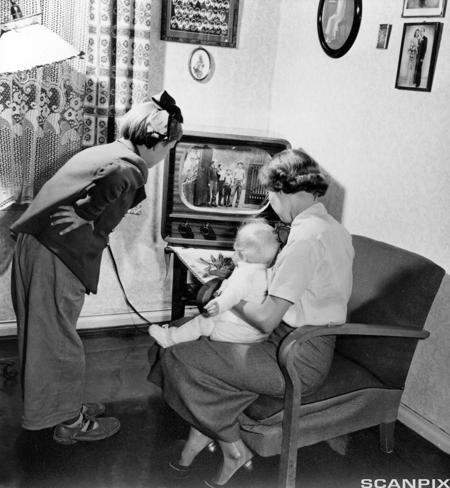 Prøvesending fjernsyn 1954